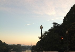 literally my favorite view in Turin - by Ponte Isabella at sunset time.